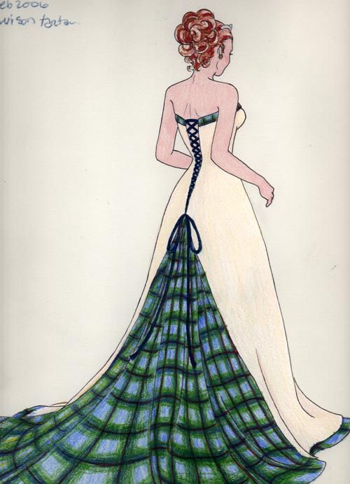 Wedding dress design by plaidcat.deviantart.com on @DeviantArt