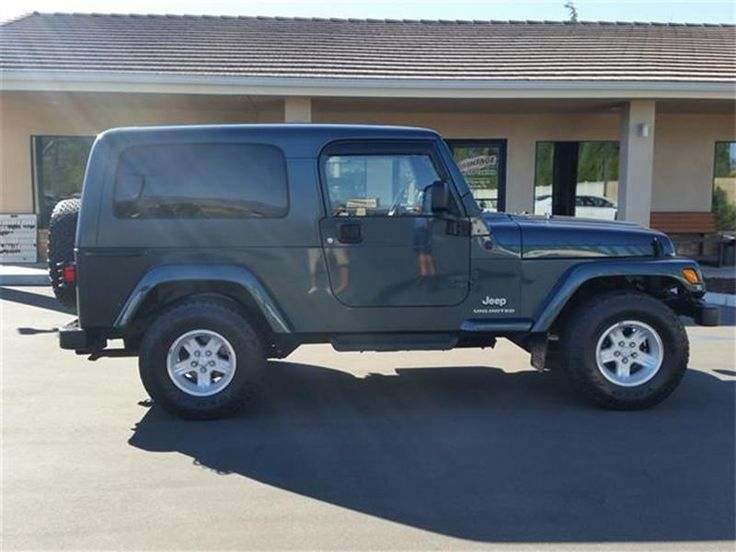 This 2005 Jeep Wrangler Unlimited is listed on Carsforsale.com for $16,995 in Alfred, CA. This vehicle includes Front air conditioning, Front air conditioning zones: single, Front airbags: dual, In-Dash CD: single disc, Radio: AM/FM, Center console: front console with storage, Power steering, Steering wheel: tilt, Axle ratio: 3.73, Limited slip differential: rear, Locking differential: rear, Skid plate(s), Clock, Gauge: tachometer, Front fog lights, Removable roof: soft top, Front seat t...