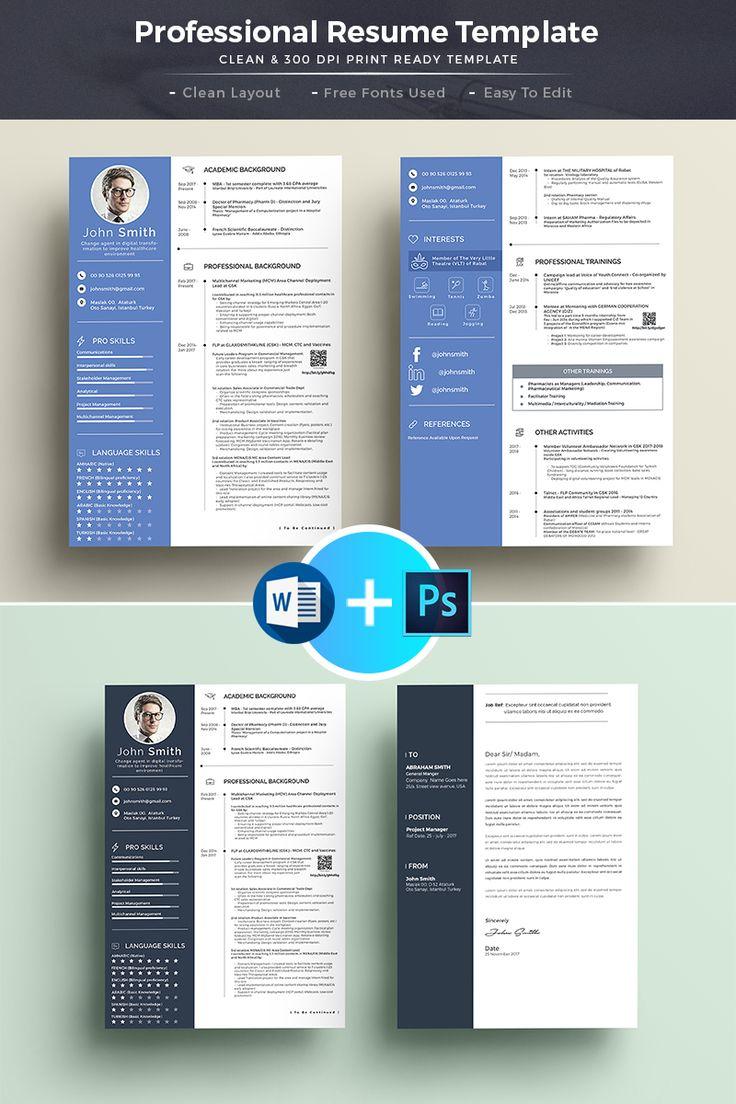 Professional Resume u0026 CV Resume Template