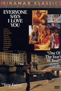 """""""Everyone Says I Love You"""" (dir. Woody Allen, 1996) --- A New York girl (Drew Barrymore) sets her father (Alan Alda) up with a beautiful woman in a shaky marriage, while her half sister gets engaged."""