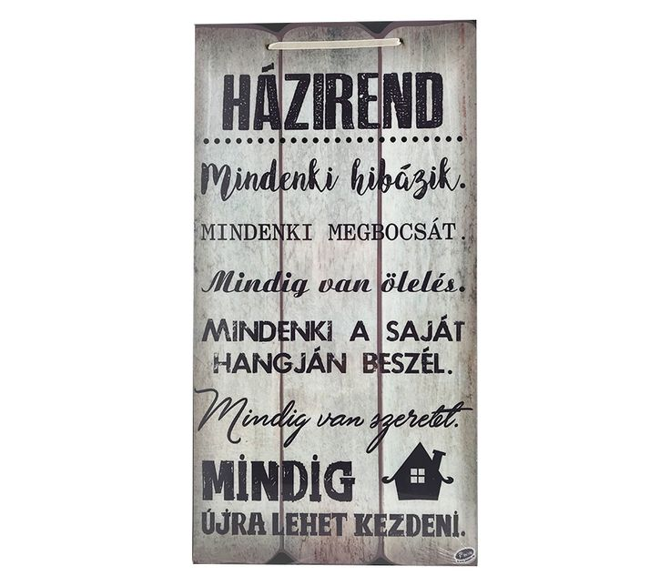 Szöveges Fa Fali Tábla - Házirend - Adiel.hu #minta #vicces #szöveg #dekoráció #fal #fatábla