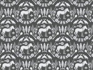 Quagga Crest   Fabrics and Wallpapers