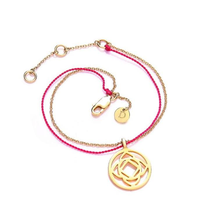Daisy Nuit Gold Base Chakra Bracelet at aquaruby.com