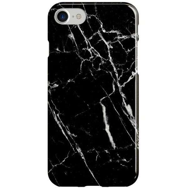 Women's Recover Black Marble Iphone 6/7 Case (475 CZK) ❤ liked on Polyvore featuring accessories, tech accessories, black, marble iphone case, iphone hard case, apple iphone case, iphone cover case and iphone cases