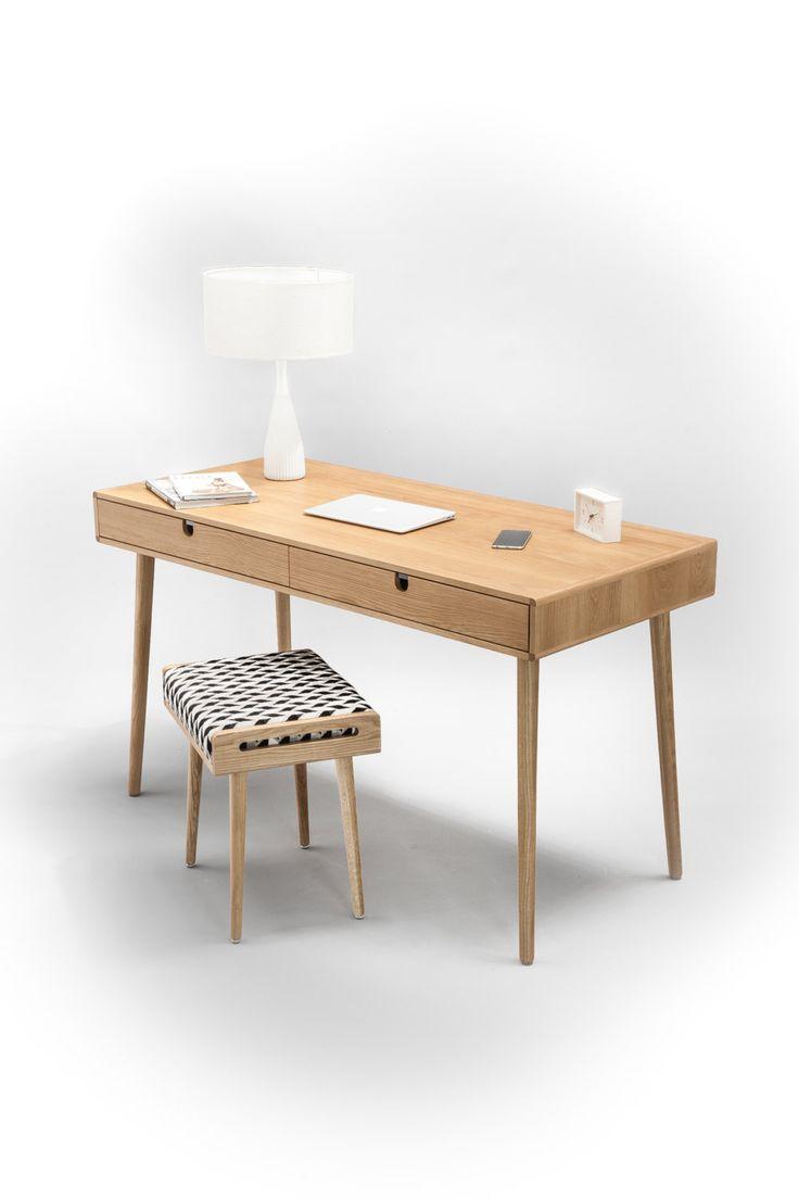 Solid Oak Desk Bureau Dressing Table Office Desk By Habitables