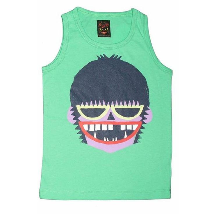 BE LUCKY // Camiseta CREPPY BOY GREEN TANK