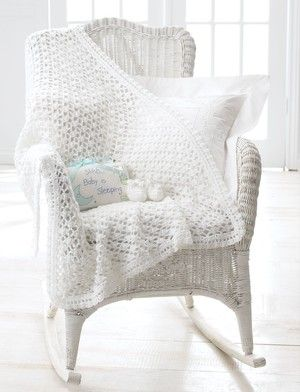 When the sun is peeking through the window, make sure your little one is wrapped in a Morning Light Baby Blanket. This crochet baby blanket uses just one skein of soft yellow yarn to create a beautiful lacy crochet blanket.