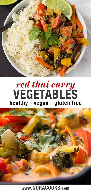 In weniger als 30 Minuten können Sie Red Thai Curry-Gemüse in Restaurantqualität zu Hause zubereiten! # …
