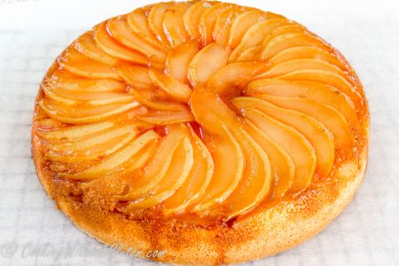 Gluten free pear, almond and cottage cheese cake