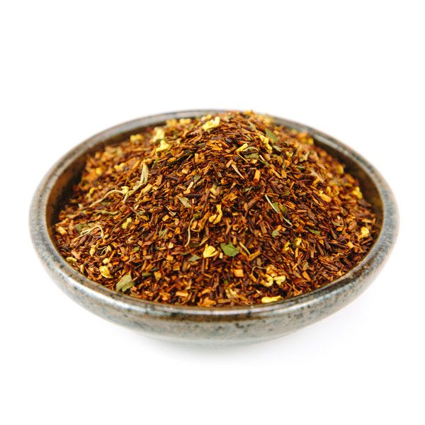 Mint Brulee Rooibus Tea. Wonderful, rich flavor. Decaf!!  From Red Stick Spice Company