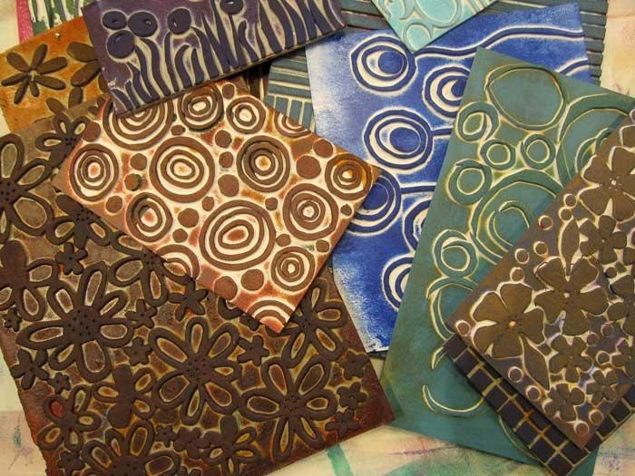 Ro Bruhn Art: Printing workshop. Make foam printing plates with foam shapes