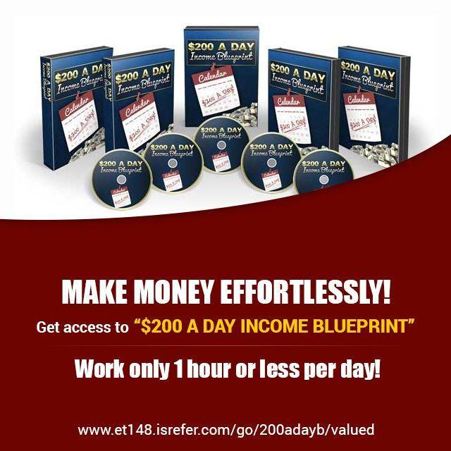 Put an extra $200 a day in your pocket! Get Instant access now to the $200 A Day Income Blueprint Videos to learn the best ways to earn money without making any investment.  https://et148.isrefer.com/go/200adayb/valued  #Earn #Money #Online #Blueprint #Tutorial #FREE #SarahStaar
