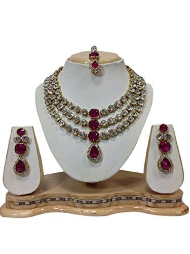 VVS Jewellers Pink Stone Bollywood Gold Plated Wedding We... http://www.amazon.in/dp/B06WLJFGYS/ref=cm_sw_r_pi_dp_x_HsTNyb090F0DT