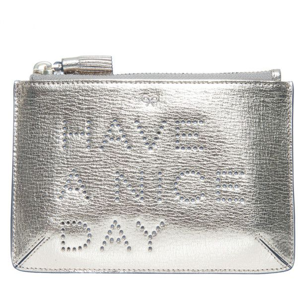 ANYA HINDMARCH Loose Pocket Pouch ($222) ❤ liked on Polyvore featuring bags, handbags, clutches, pocket purse, anya hindmarch handbag, leather clutches, pocket pouch and white leather handbags