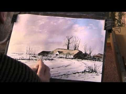 Watercolour demo. Wooded Stream - YouTube