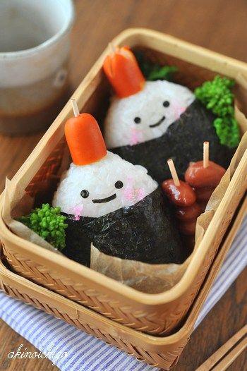 Easy-to-Make Onigiri Girls Kyaraben Bento Lunch