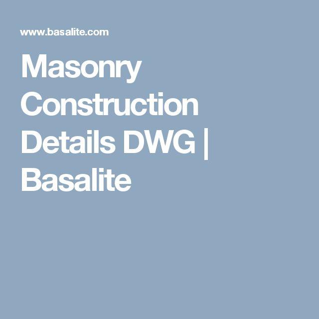 Masonry Construction Details DWG | Basalite