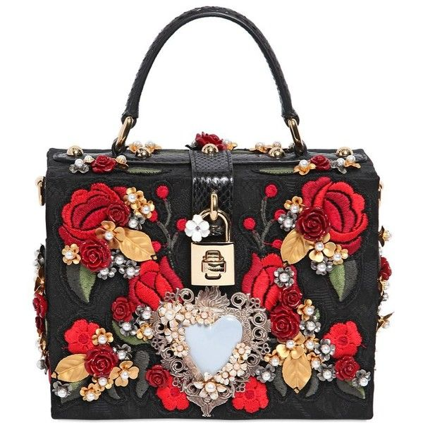 DOLCE & GABBANA Embellished Brocade Dolce Bag ($6,995) found on Polyvore