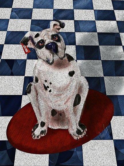 Cute! Boxer Named Briefs, digital illustration,dog children's art,by Alma Lee, EBSQ+ on eBay★♥★