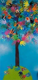 candice ashment art: the HAND TREE -great idea for our crossing over program.