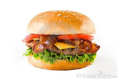 Stock Photo about Bacon Cheese Burger