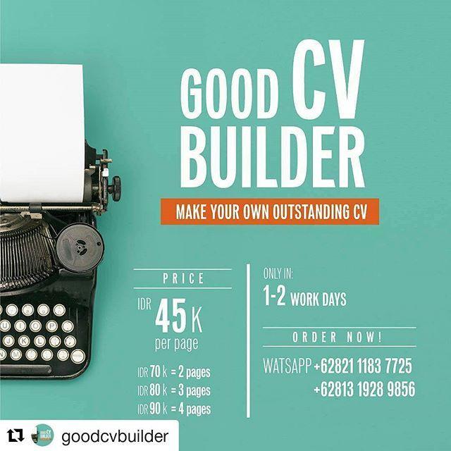 #Repost @goodcvbuilder with @repostapp ・・・ HR keep ignoring your CV? Then update your CV differently . Only IDR 45k. Order Now! WA +6282111837725 / +6281319289856 . #cv #curriculumvitae #resume #resumemaker #goodresume #job #layoutdesign #design #creative #recruitment #employee #employees #instadaily #instagood #cvmurah #jobinterview #interview #graduate #graduation #lowker #lowongankerja #kerja #kantor #vscocam #photooftheday #cvbuilder #infografis #infographic #graphicdesign