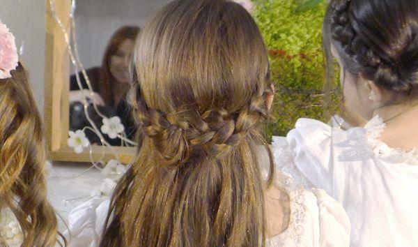 Peinados con trencitas para ni as de primera comuni n - Peinados bonitos para ninas ...