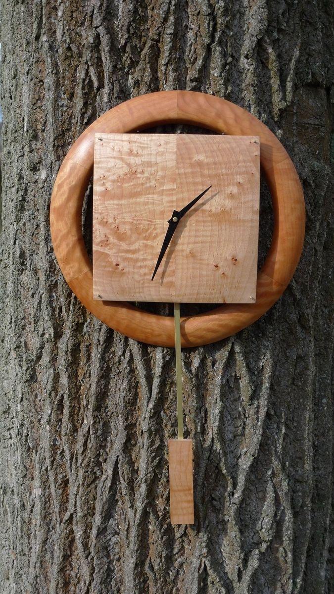 Custom Made Cherry & Maple Wall Clock
