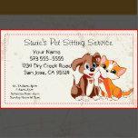 Customizable Pet Sitting Service Business Card