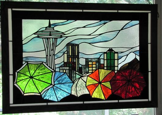 Sense Of Seattle - Delphi Stained Glass