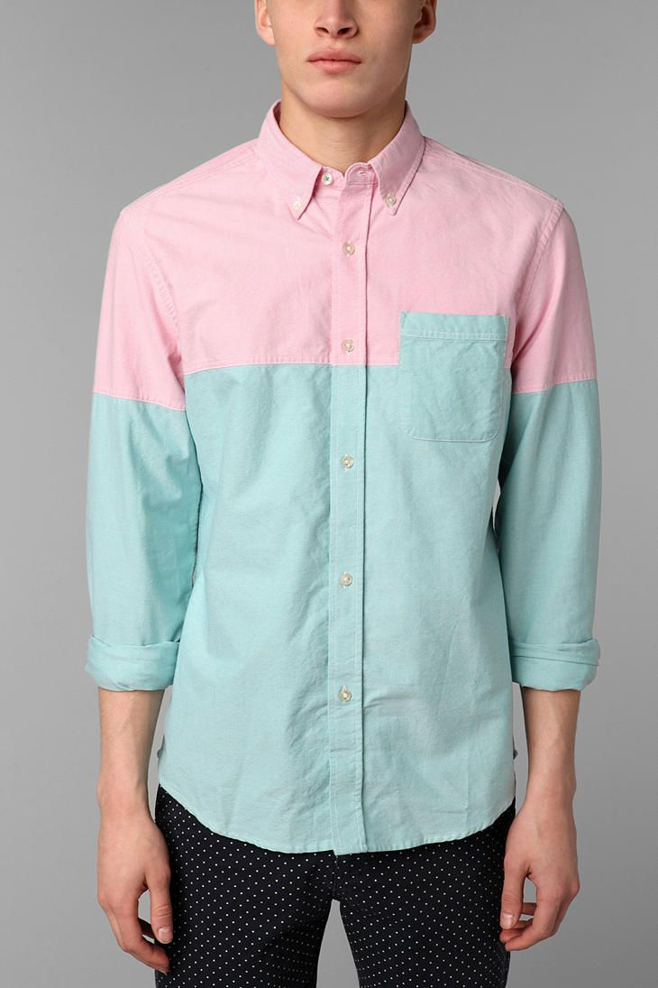 Hawkings McGill Colorblock Pinpoint Oxford Shirt