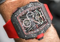 "Setting world records and telling you all about it in our newest ""Hands-on"" article covering the Richard Mille RM 50-03 McLaren F1 Lightweight - only 40 gramms making it the lightest split-second chronograph with a tourbillon in the world. Cost for this beast $1,000,000.-  Read the article: ttp://www.ablogtowatch.com/richard-mille-rm-50-03-mclaren-f1-watch/ #sihhabtw"