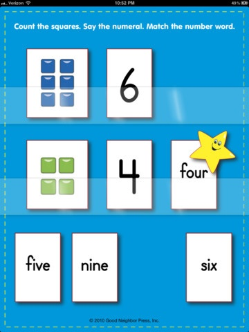 Numbers and Number Words Matching Game