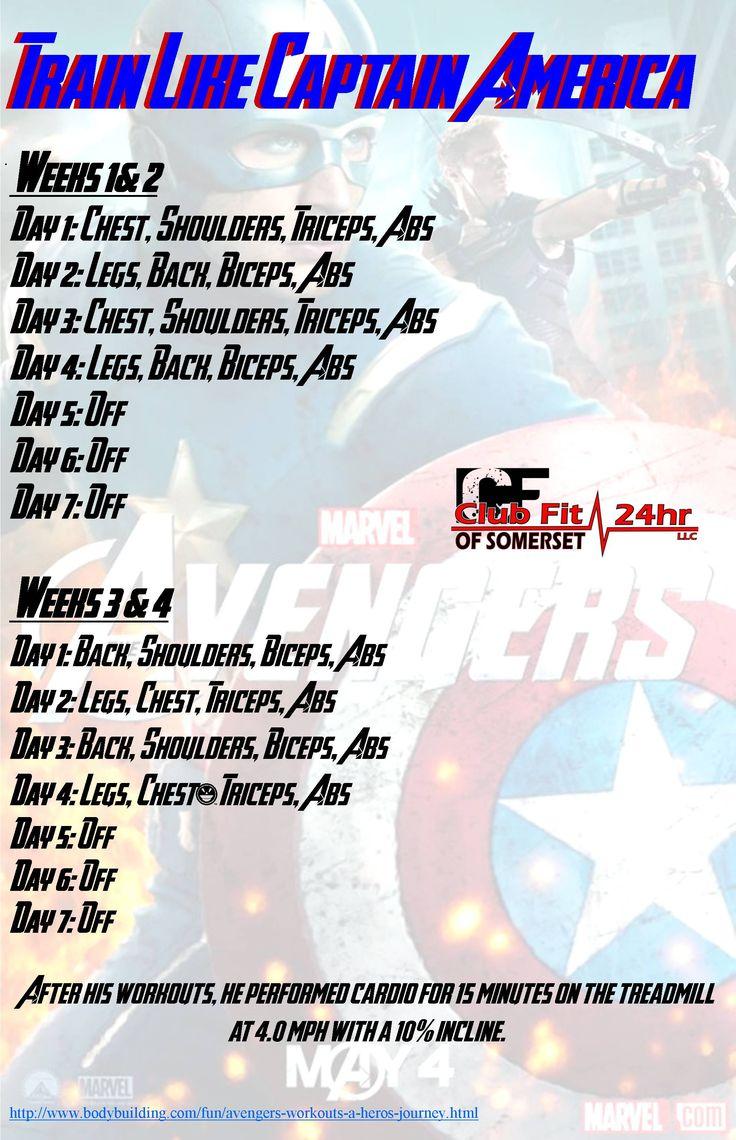 Captain America's workout plan