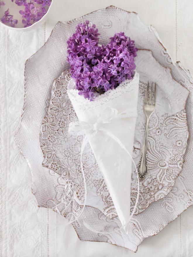 Сирень в свадебном оформлении