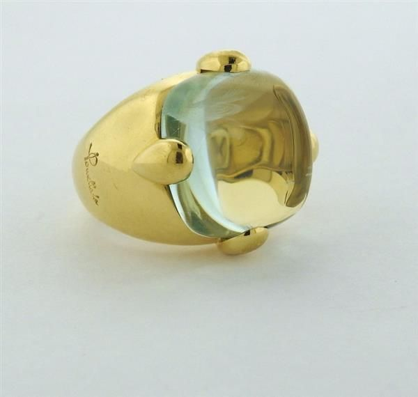 Pomellato 18K Gold Aquamarine Cocktail Ring Featured in our upcoming auction on September 13!