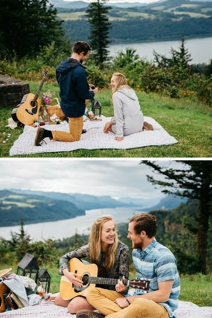 He popped the question in their favorite spot, and her sister was there the whole time taking pictures! This whole story is so romantic