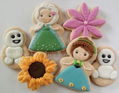 DOCE MARIA: Biscoitos Frozen Fever