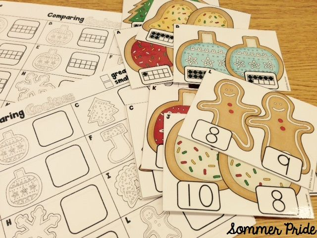 Comparing Cookies! comparing numbers 1-20 {FREE}