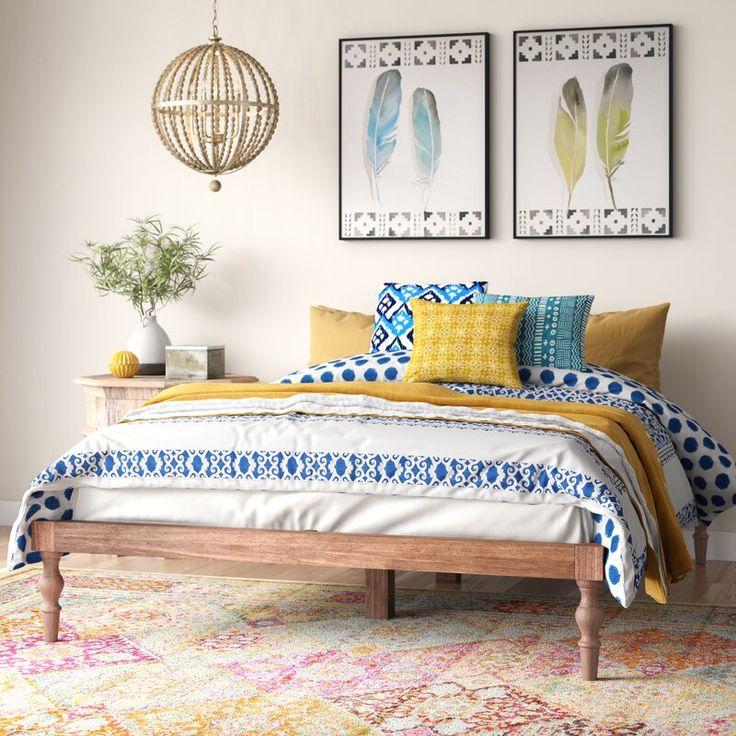 Bungalow Rose Henson Queen Solid Wood Platform Bed
