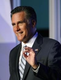 29. Sept. 18-Mitt Romney secret video: Nearly half 'believe they are victims';    Republican presidential candidate Mitt Romney speaks to the Hispanic Chamber of Commerce on Monday, Sept. 17, 2012, in Los Angeles. (David McNew, The Associated Press)