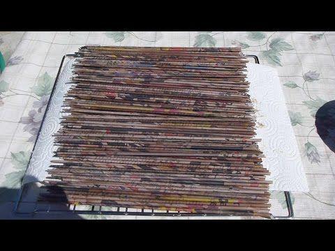 Come colorare le cannucce di carta per vimini - YouTube