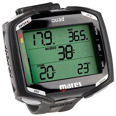 Dive Computers 50882: New Mares Quad Air Nitrox Dive Computer Wrist Model Blk Blk -> BUY IT NOW ONLY: $349.95 on eBay!