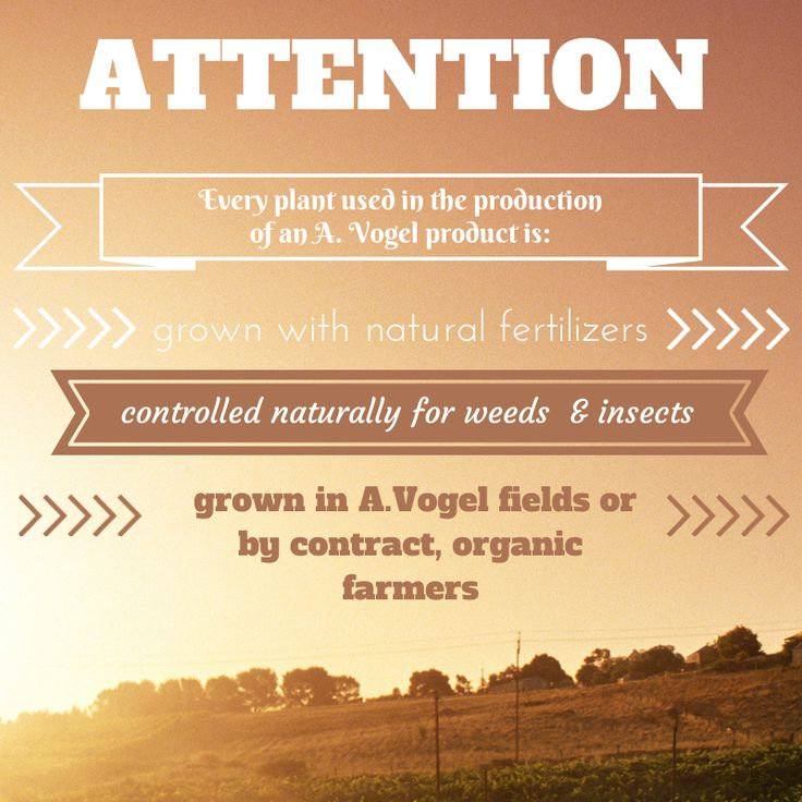 A. Vogel Product Cultivation - 100% Organic