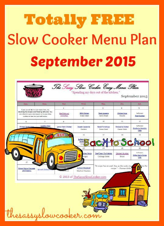 Lots of new slow cooker dishes to try in our FREE slow cooker menu plan
