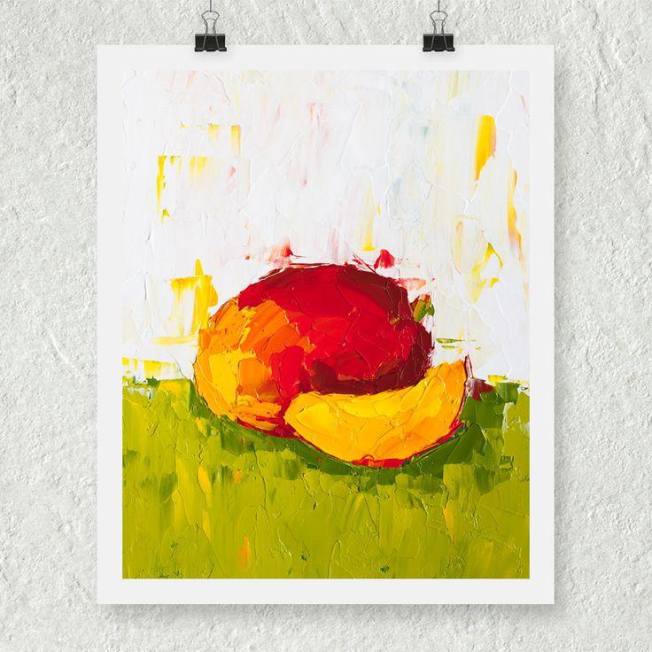 Mango Artwork Still Life Print Fruit Art