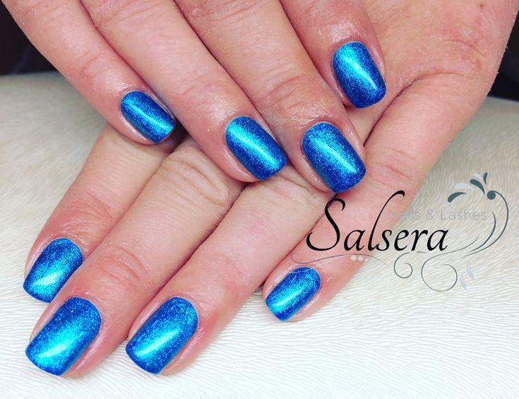 Nails  Nägel  Nageldesign  blau  Fullcover  Shortnails  Salsera Nails & Lashes Frankfurt am Main
