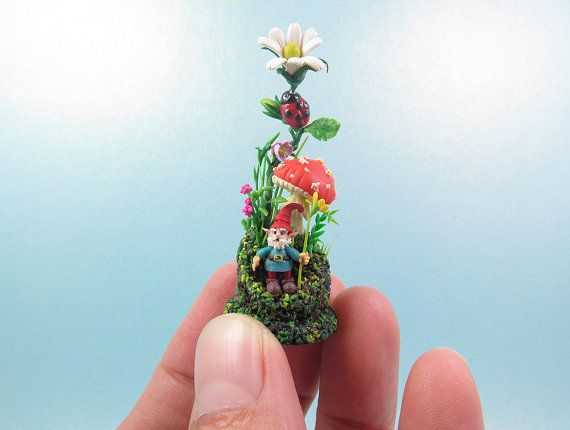 Micro gnome polymer clay