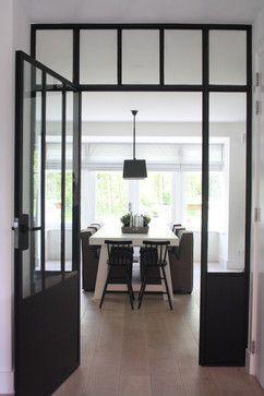 Deur, Binnendeur, Staal, Glas, Stalen deur, Stalen kozijn