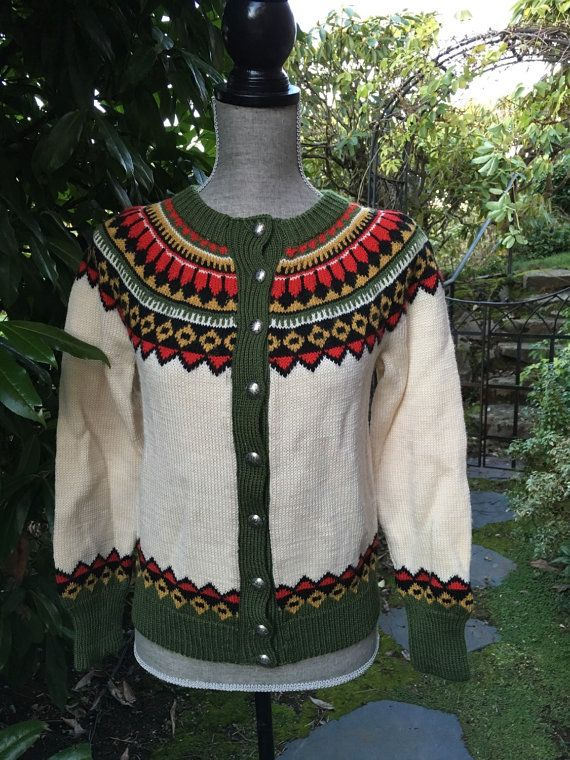 Fair Isle Norwegian wool sweater by Lulle by VikingRaids on Etsy